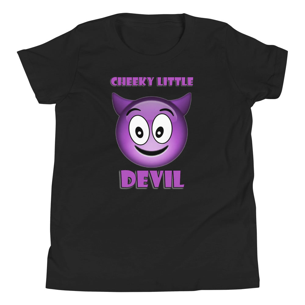 Spooked Cheeky Little Devil Youth Short Sleeve T-Shirt - Spooked Clothing