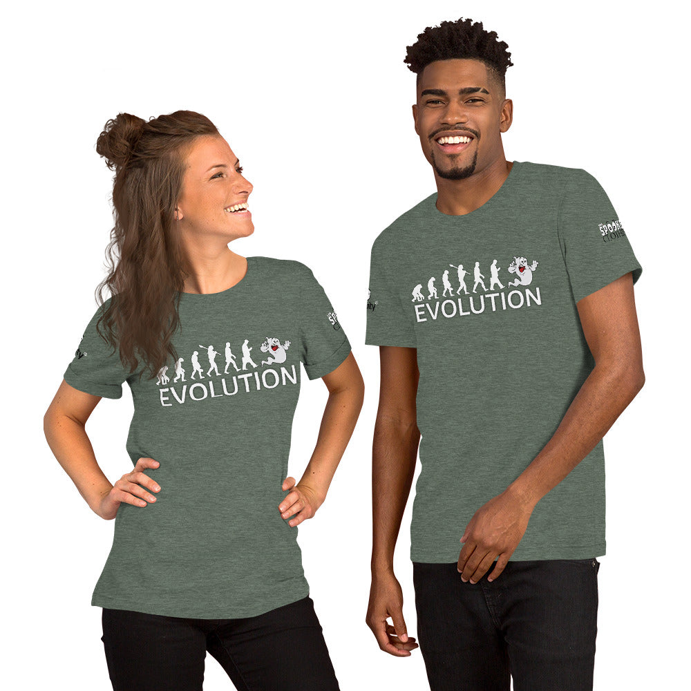 Spooked Evolution Short-Sleeve Unisex T-Shirt - Spooked Clothing