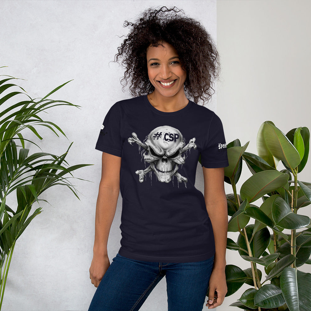 #CSP Skull And Crossbones Short-Sleeve Unisex T-Shirt - Spooked Clothing