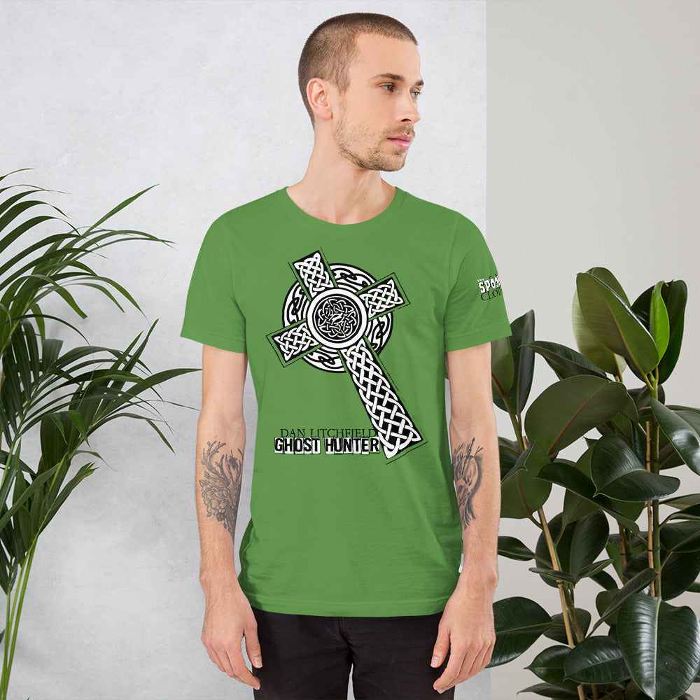 Dan Litchfield Ghost Hunter Celtic Cross Short-Sleeve Unisex T-Shirt - Spooked Clothing