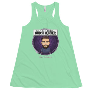Dan Litchfield Ghost Hunter Cartoon  Women's Flowy Racerback Tank - Spooked Clothing