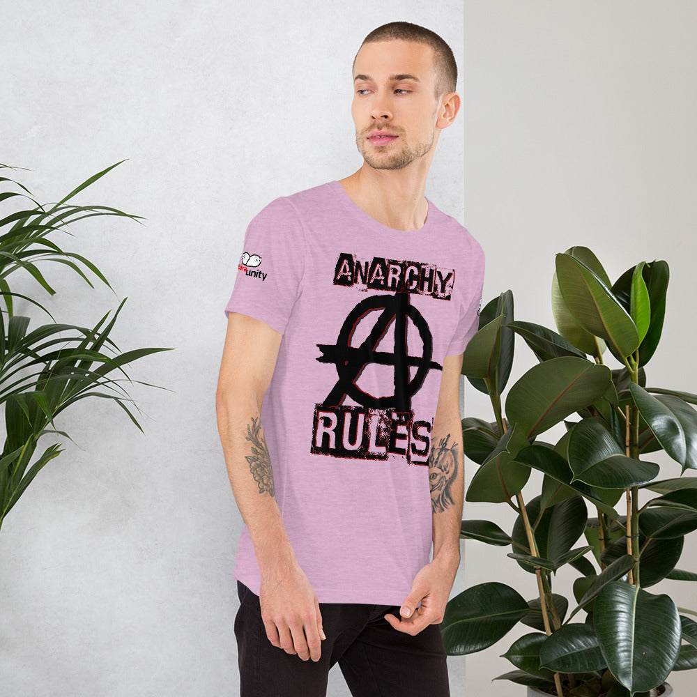 Spooked Anarchy Rules Short-Sleeve Unisex T-Shirt - Spooked Clothing