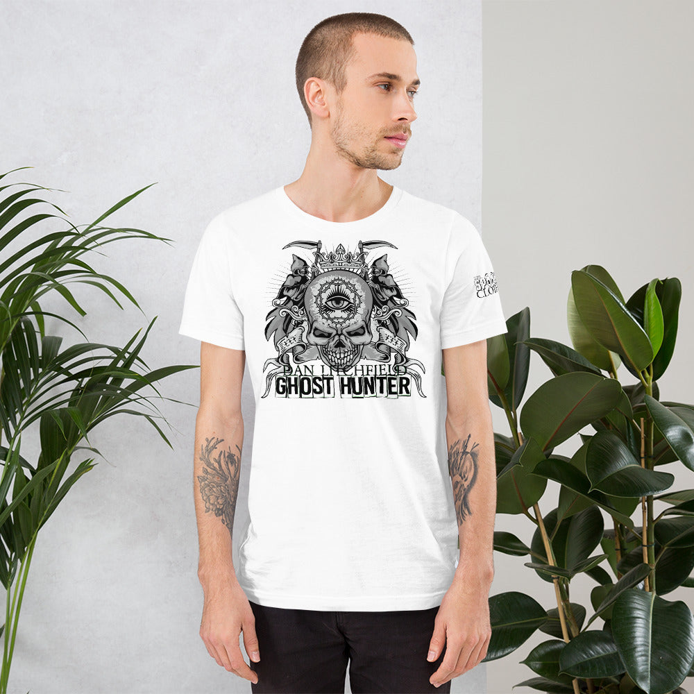 Dan Litchfield Ghost Hunter Skull Short-Sleeve Unisex T-Shirt - Spooked Clothing