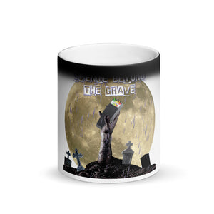 Science Beyond The Grave Matte Black Magic Mug - Spooked Clothing