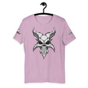 Spooked Demon Skull Short-Sleeve Unisex T-Shirt - Spooked Clothing