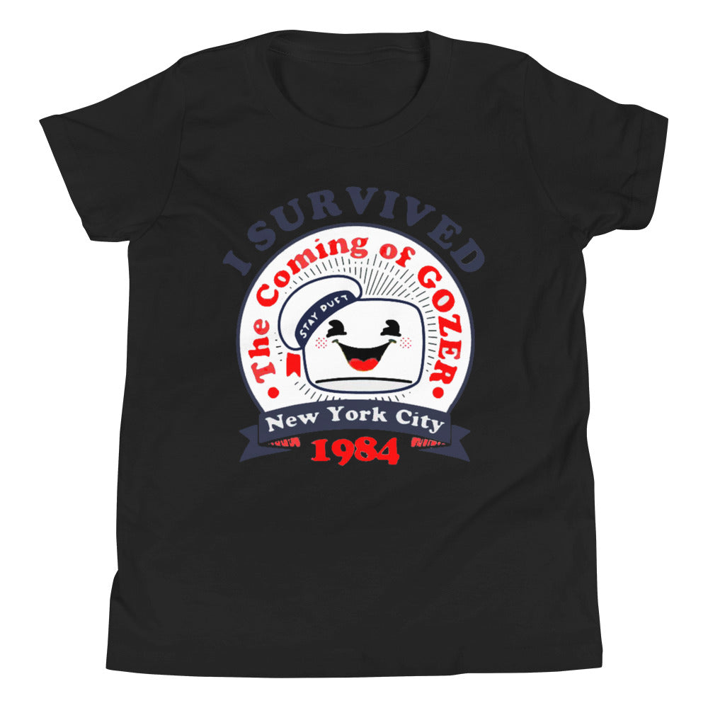 Spooked I Survived The Coming of Gozer Youth Short Sleeve T-Shirt - Spooked Clothing