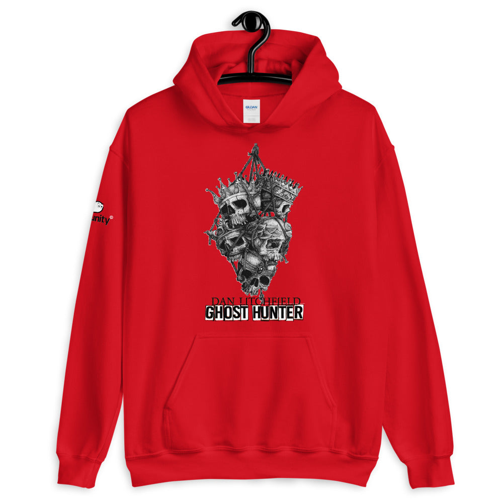 Dan Litchfield Ghost Hunter Skull Kings Unisex Hoodie - Spooked Clothing