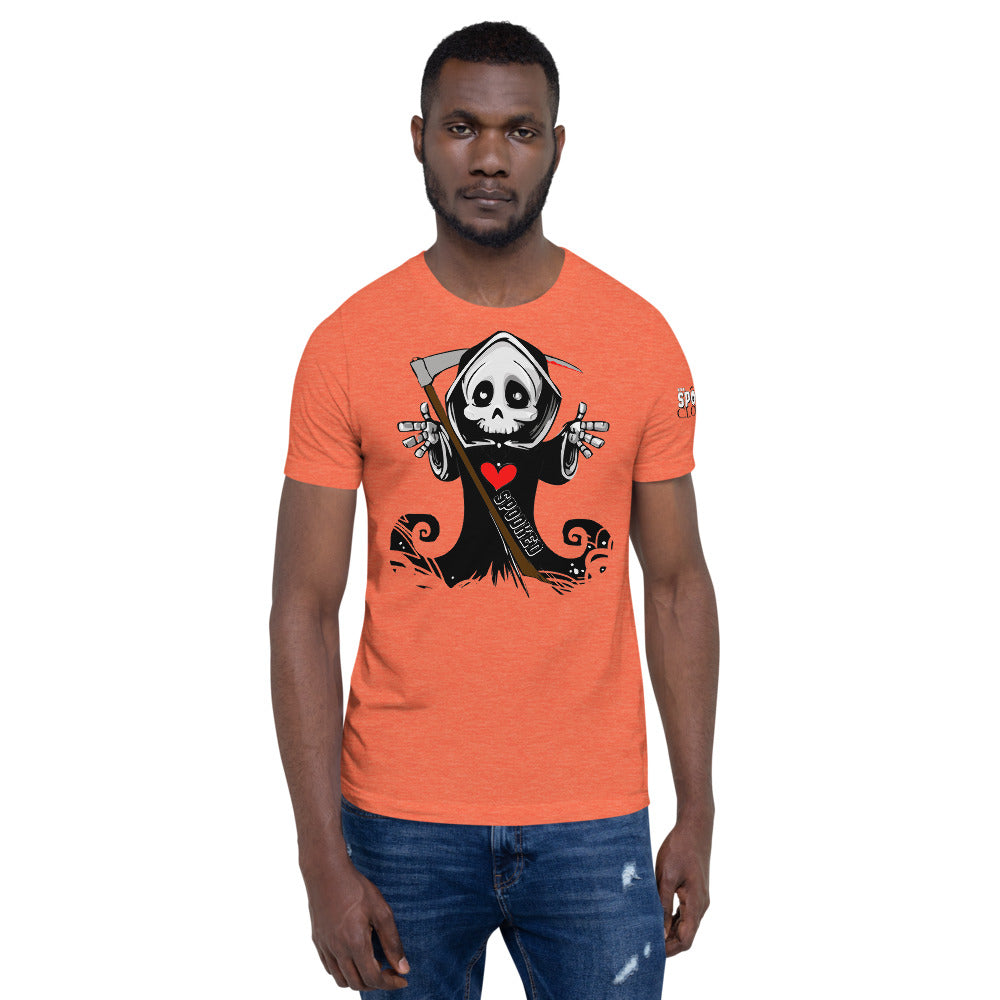 Spooked Reaper Short-Sleeve Unisex T-Shirt - Spooked Clothing