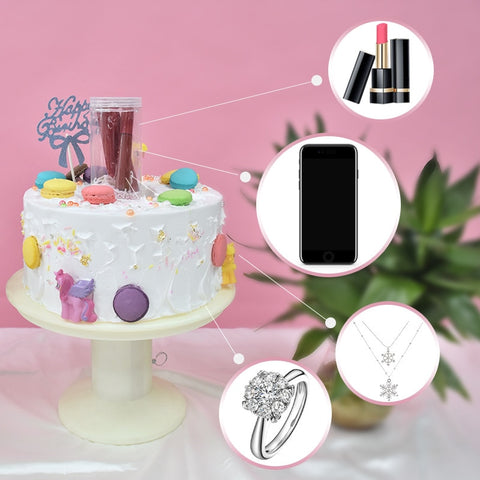 2-Layer New Design Happy Birthday Cake Stand With Surprize Gift Box Surprising Magic Cake Stand