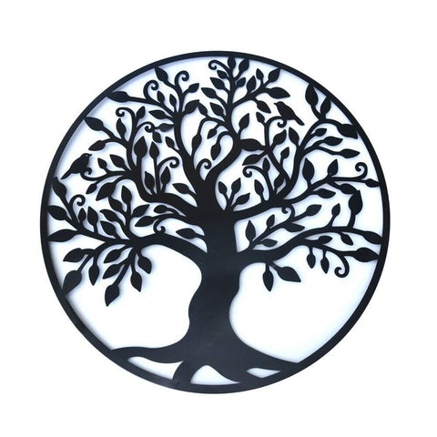 Wall Hanging Decorations Diameter 60cm Tree of Life Iron Art