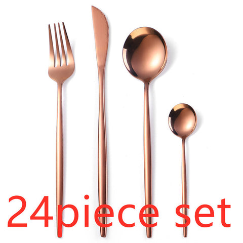 24Pcs/set Stainless Steel Upscale