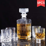 5PCS/Set Glass Decanter Wine Separator Set