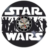 Vintage Vinyl Record Wall Clock Modern Design Creative 3D Stickers Movie