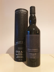 Game of Thrones the Night's watch Oban Bay Reserve 70cl