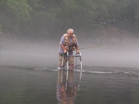 Old Man Still Flyfishing