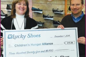 Lucky Shoes donates to Children's Hunger Alliance!