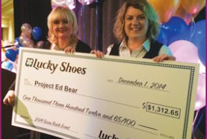 Lucky Shoes donates $1,312 to Project Ed Bear!