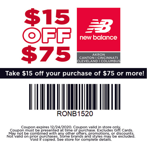 $15 off purchase of $75 or more - In Store Only