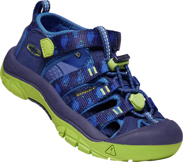 Little Boy Keen Newport H2 Blue Depths/Chartreuse