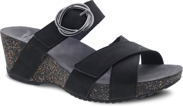 Womens Dansko Susie Wedge Sandal Black