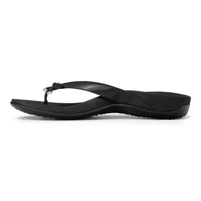 Womens Vionic Bella Toe Post Sandal Black
