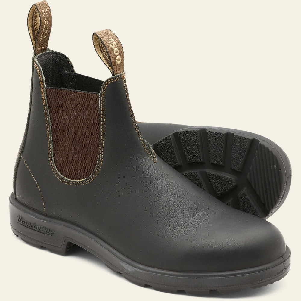 Mens Blundstone 500 Chelsea Boot Stout Brown
