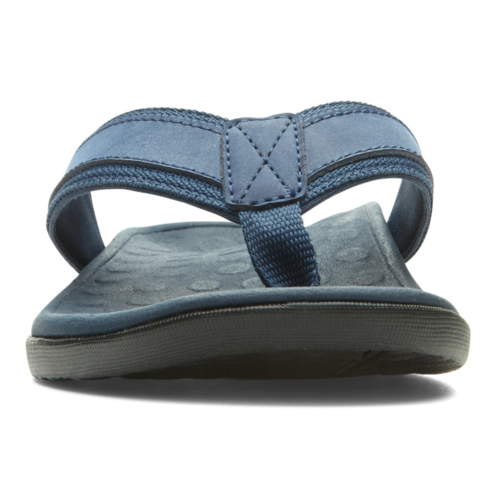 Mens Vionic Tide Toe Post Sandal Navy