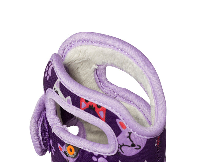 Infant Girl Bogs Baby Bog Kitties Purple