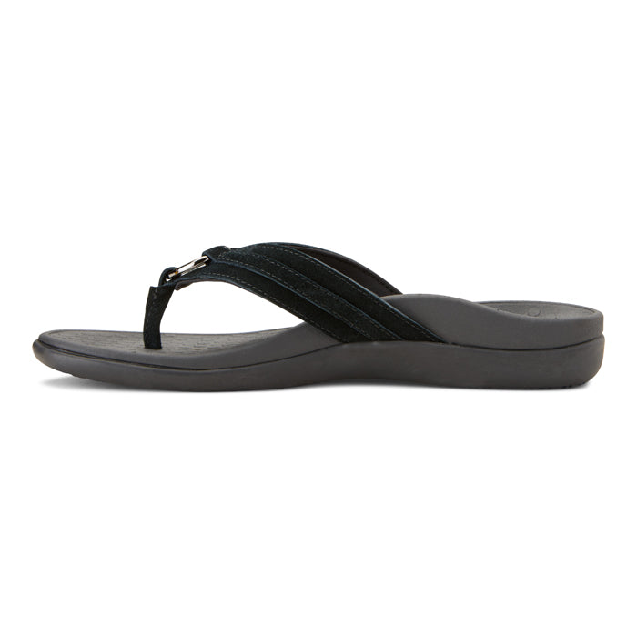 Womens Vionic Aloe Toe Post Sandal Black