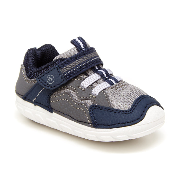 Infant Boy Stride Rite Soft Motion Kylo Sneaker Navy/Gray