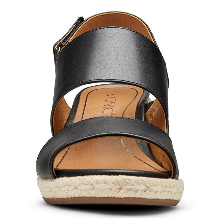 Vionic Brooke Wedge Sandal BLACK