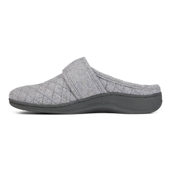 Womens Vionic Carlin Mule Slipper Grey