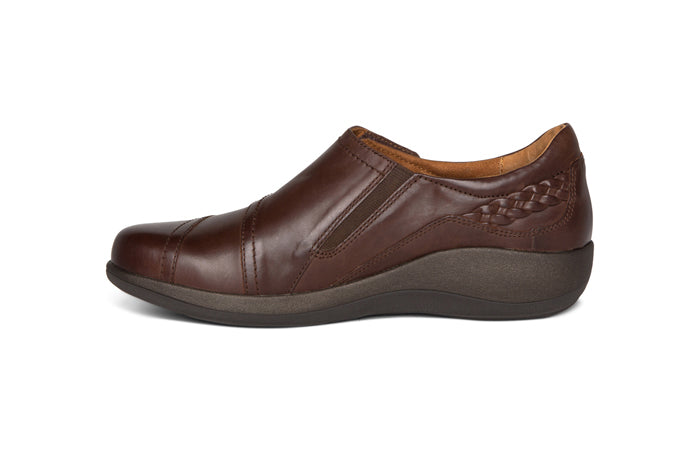 Womens Aetrex Karina Monk Strap Brown