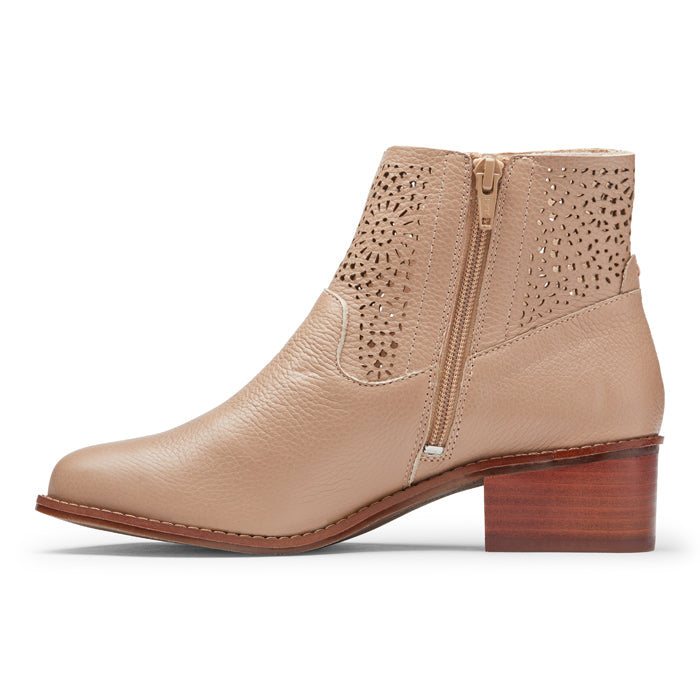 Womens Vionic Luciana Perforated Ankle Boot Nude