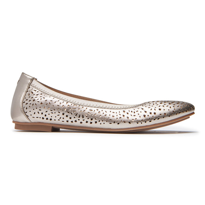 Womens Vionic Robyn Perforated Flat Pewter