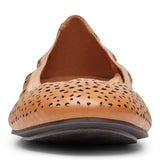 Womens Vionic Robyn Perforated Flat Toffee
