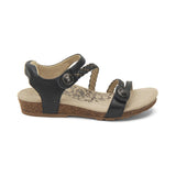 Womens Aetrex Jillian Braided Quarter Strap Sandal Navy