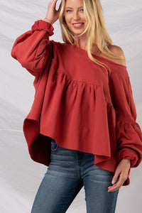 Puff Sleeve Dolman Top