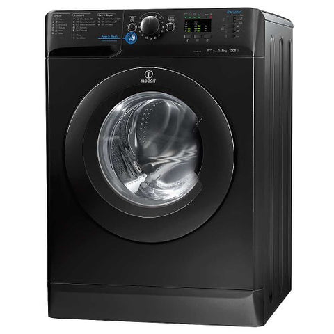 Indesit XWA81252XK 1200 Spin Washing Machine (Black)