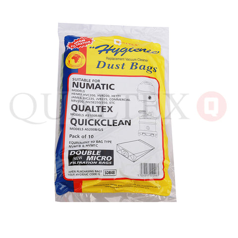 NUMATIC JAMES PAPER BAGS X 10