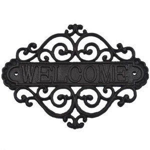 "Iron ""Welcome"" Farmhouse Wall Sign"