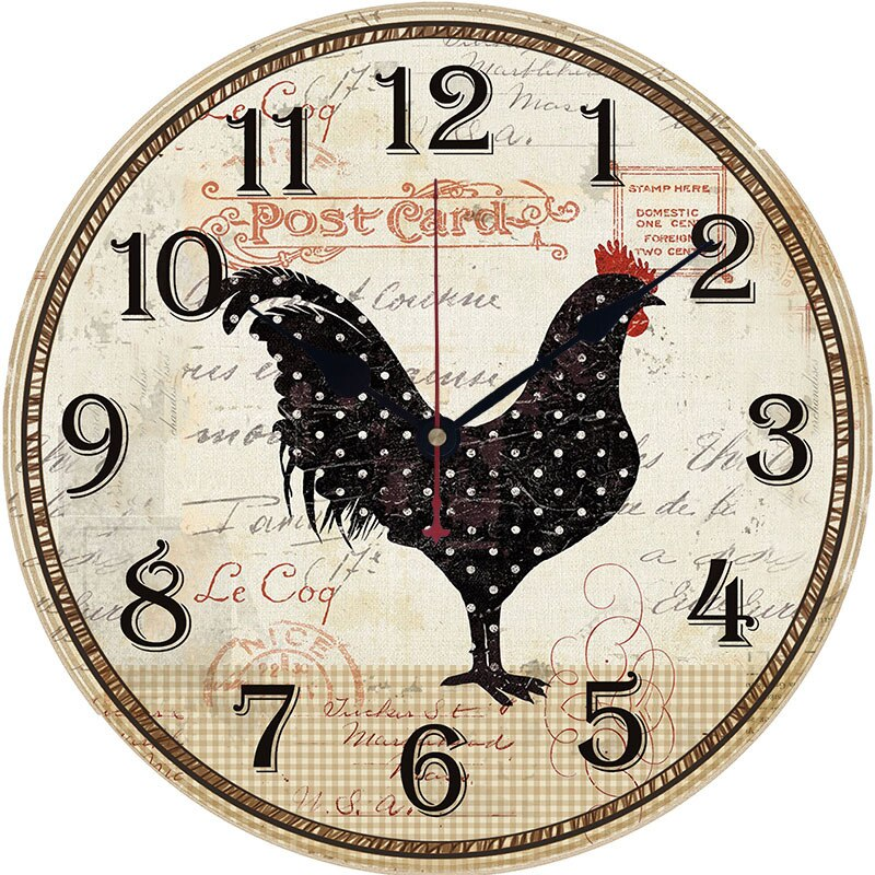 Farmhouse Rooster Clock