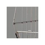 Portable Basket Rack 4 Tiers - Clear Steel