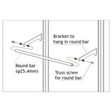 Round Bar W90cm with Brackets
