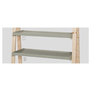 Delta - Tray Shelf for Frame - Cement Color