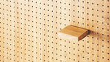 Wooden Shelf for Peg Board D15cm - Rustic