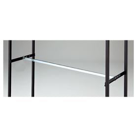 Lateral 4 - Square Bar with Black Bracket- Chrome