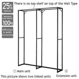 Lateral 4 - Wall Unit W90cm - Black