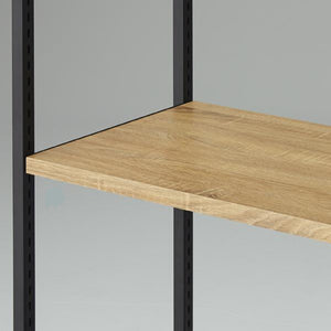 Lateral 4 - Wooden Shelf D40cm with Black Bracket - Rustic