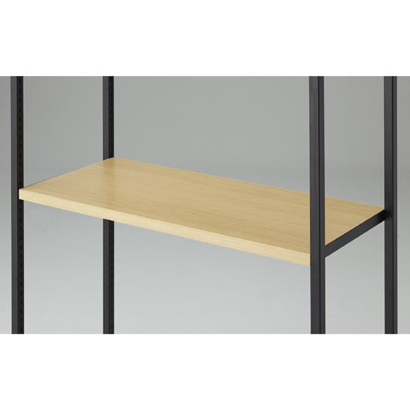 Lateral 4 - Wooden Shelf D40cm with Black Bracket - Maple